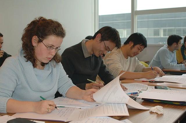 Auditeurs de l'ESCPI en cours de CAO.